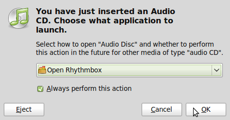 Audio prompt