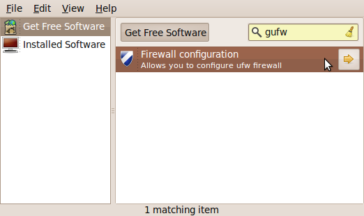 Gufw search