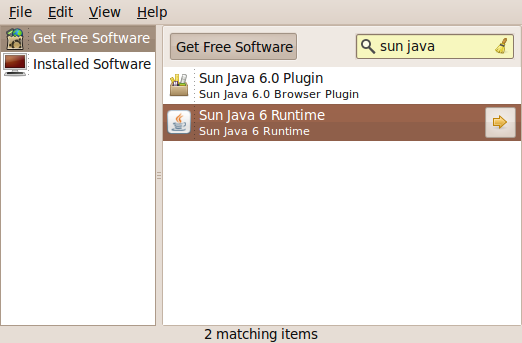 search for Java jre