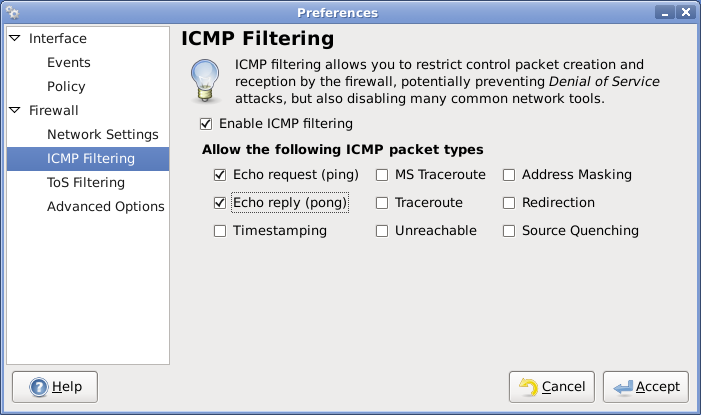 allow local icmp